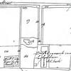 F2207<br /> Deel van een kadastrale kaart uit 1858 van de r.-k. schuilkerk en het landhuis Ons Genoegen, de pastorie en de begraafplaats. Eertijds gelegen aan het laantje naast villa Tijloos aan de Hoofdstraat nr. 78.