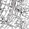 F2139<br /> Detail van een kaart uit 1615 van Floris Balthasars. Het slot 'Teylinge' had via de Laen (later Teijlingerlaan geheten) naar de Heerwech (later Hoofdstraat) een strategische ligging.