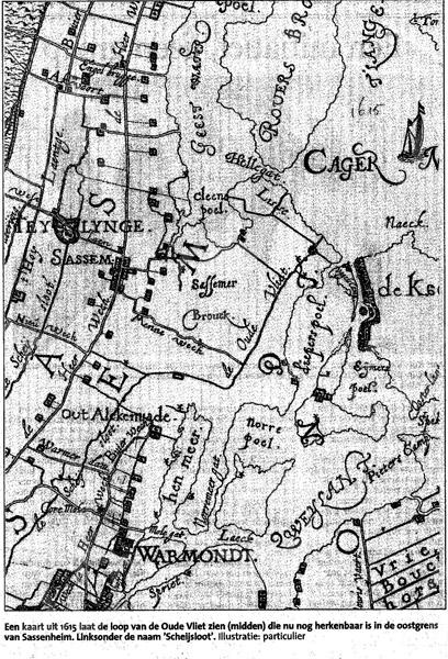 F2110<br /> Een kaart van Sassenheim en omgeving uit 1615.