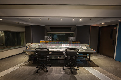 Full Sail University Studio A control room fitted with the Neve 5088 analog mix console.