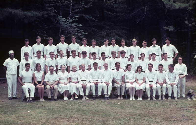 Kabeyun Staff, 1965 - Larry in third row, sixth from the left