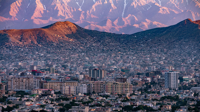 Kabul, early morning view from Wazir Akbar Khan hill.