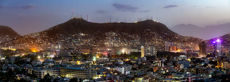 Evening view from Wazir Akbar Khan hill park in Kabul.