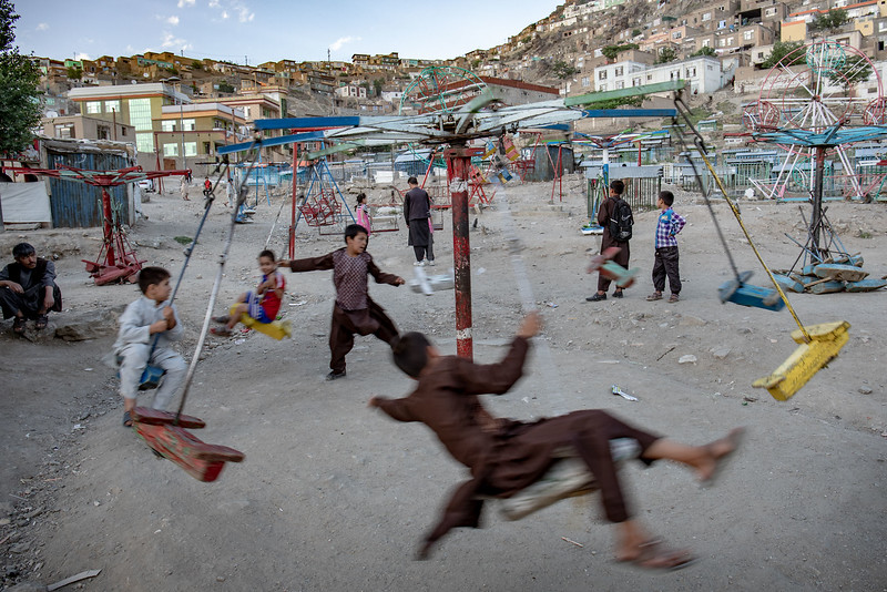 Playground near Kart-e-Sakhi shrine (Zīārat-e Sakhī), Kabul.