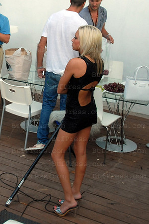 Exclusive--- Porn star Kacey Jordan (one of the girls Charlie Sheen partied hard recently), during the filming of the french serie West Hollywood in los Angeles on July 12,2008.