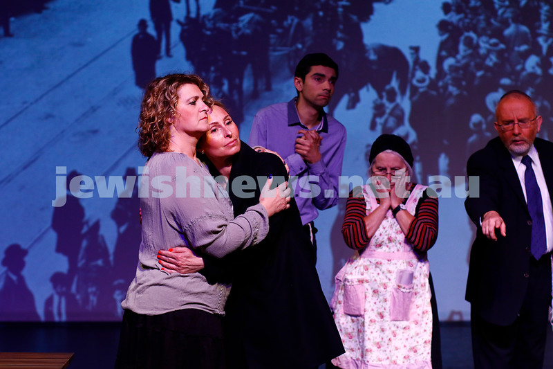 "29-10-16. Kadimah's production of ""Sholem Aleichem: I'm Not Dead Yet"".  Photo: Peter Haskin"