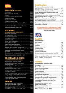 Kaffein menu _ 2020