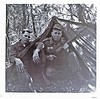 DK-2 James R. Lopp (IL, KIA 8 Feb 68) and ? Smith on bivouac at Fort Hood, Texas, in front of their tent