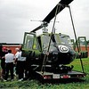 DK-70 A retired Huey gunship on display, from the front