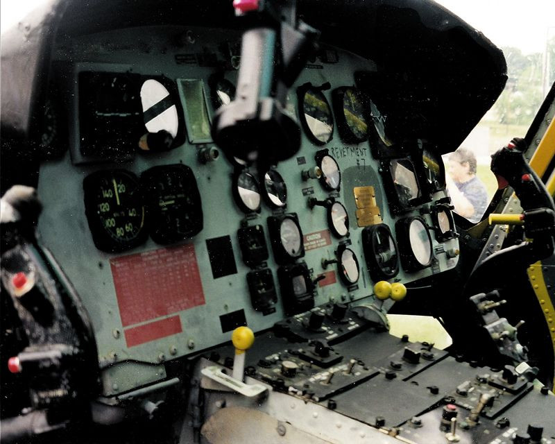 DK-76 The dashboard of a '57 Chevy--Oops...a Huey gunship