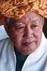 Portrait d'Aung Khan Htee (chef de la nation pa-o) à Kakku. Etat Shan/Birmanie (Myanmar)