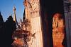 Statuette enfouie dans la niche d'un stupa au coeur du site antique de Kakku. Etat Shan/Birmanie (Myanmar)