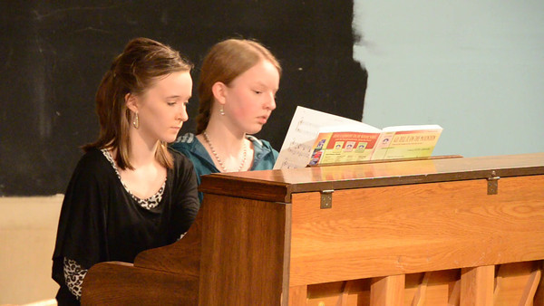 """""""Go Tell It on the Mountain,"""" and """"Angels We Have Heard On High""""  Audrey Haugen and Nicole Bergquist"""