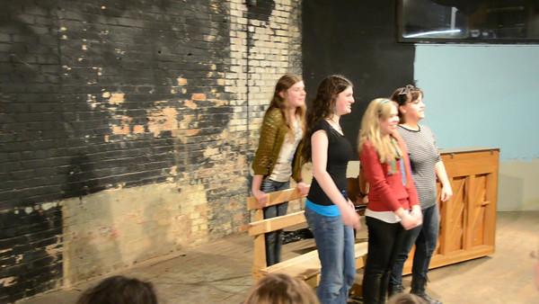 Improv with the Polite Mechanicals: Abby Kuhlmann, Abby Aagenes, Abby Slater, Michaela Schulz, Jonathan Muroya, Katelyn Slater