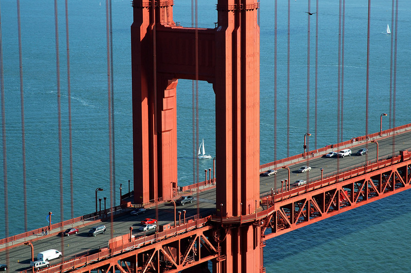 Zooming in on the world's most famous bridge.