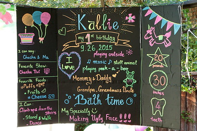 Kallie Turns 1 Year Old