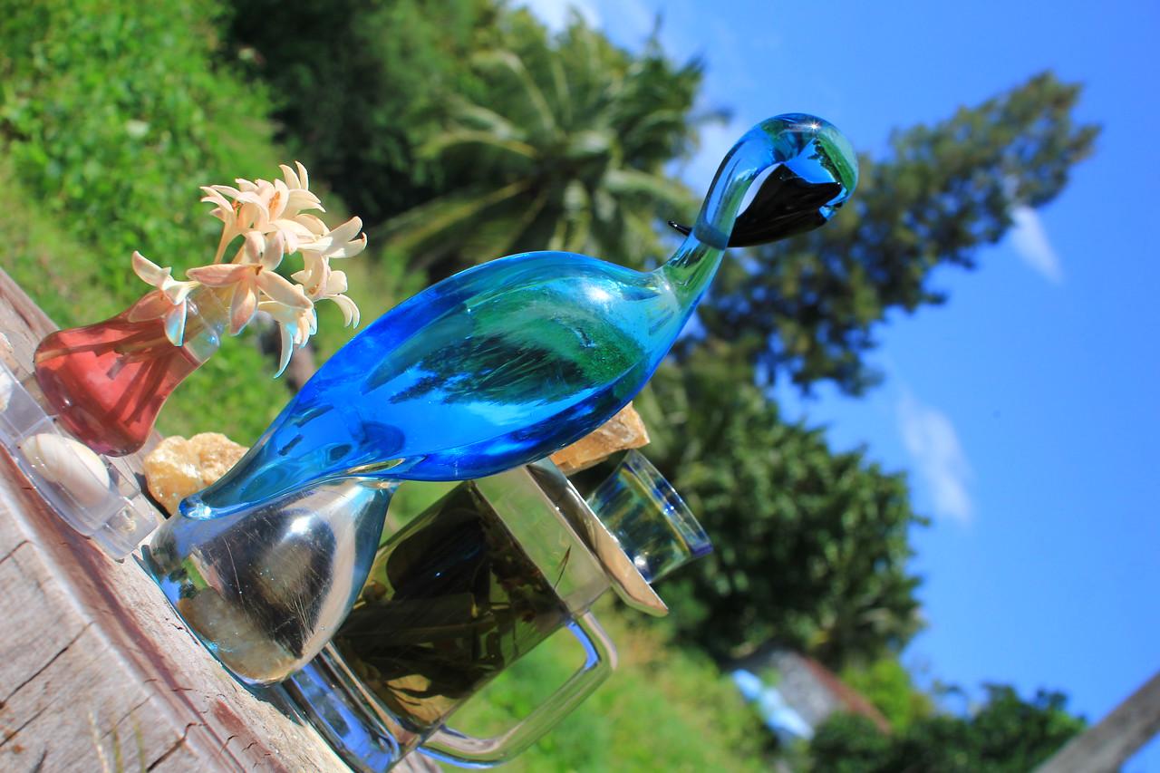 Murano glass bird & herbal Tea