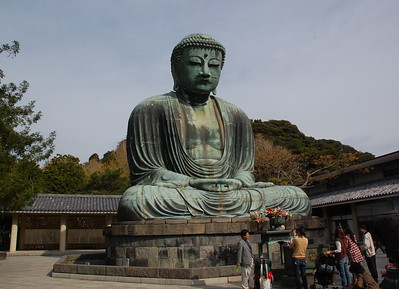 Great Buddha (Daibutsu), a bronze statue of Amida that at 13.35 meters is the second largest in Japan