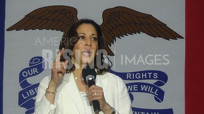 Kamala Harris Speaks At Campaign Rally In Davenport, IA