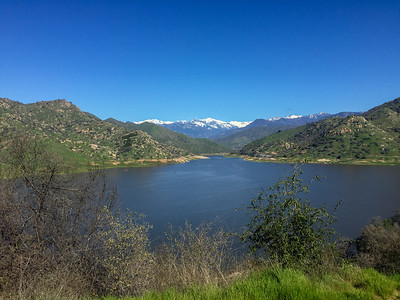Lake Kaweah and the snow clad High Sierra - Sean and Kamille's wedding weekend