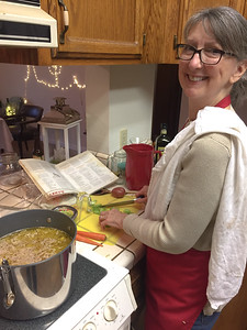 Mom's minestrone soup - Sean and Kamille's wedding in Three Rivers