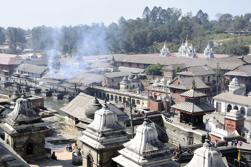 Pashupathinath cremation grounds.