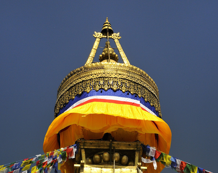 Every element of the construction of the stupa has significance in the Bhuddist view of the universe.