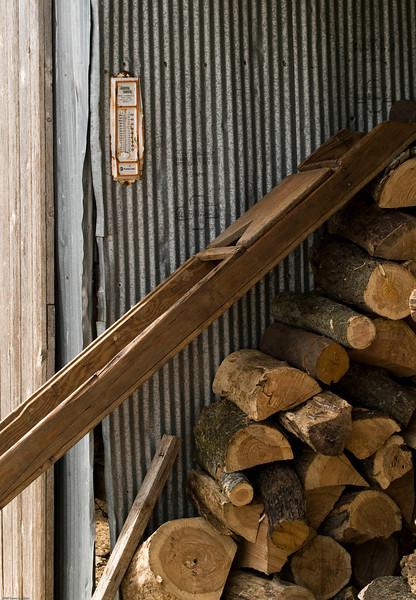 School house wood pile