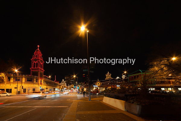 KC0071 - Christmas Lights Along Broadway Near Brush Creek