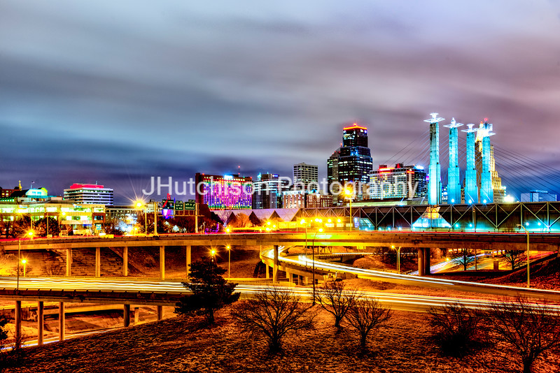 KC0056 - Downtown Kansas City at Night