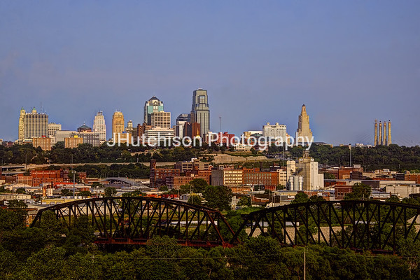KC0014 - View of Downtown KC From Strawberry Hill