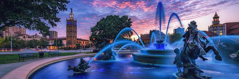 Plaza Fountain Pano