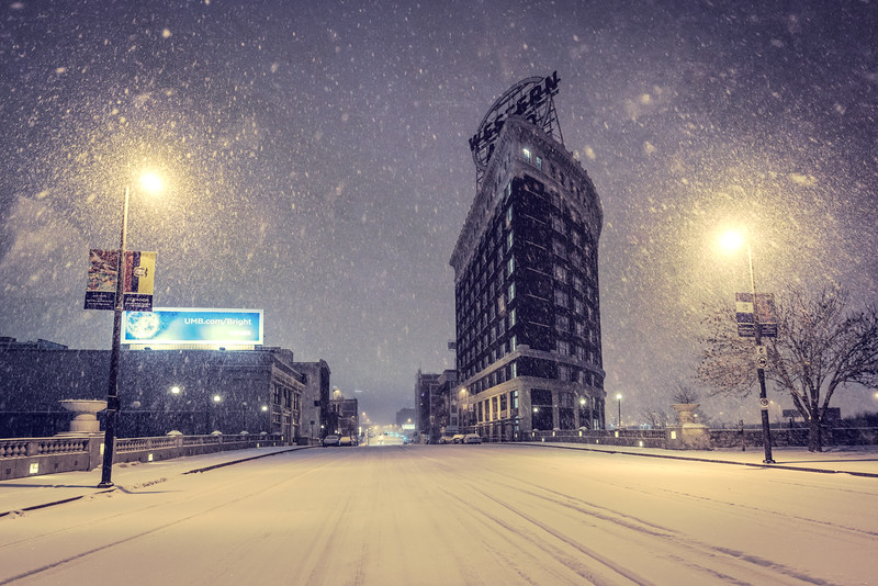 Western Auto in the Snow