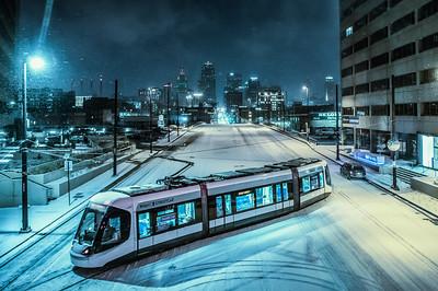 KC Streetcar in Snow