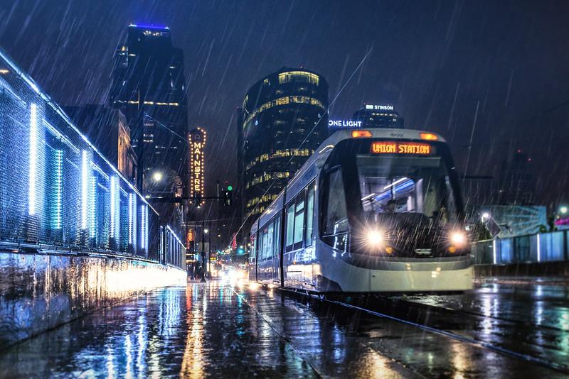 KC Streetcar in the Rain