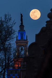 Full Moon over Country Club Plaza