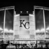 Kauffman Stadium B & W