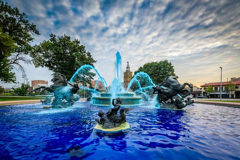 JC Nichols Fountain - Royal Blue 1