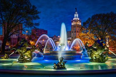 JC Nichols Fountain - Color