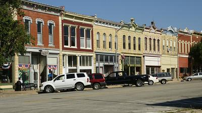 "Historic buildings along ""1880's Main Street"" in Peabody, Marion County, KS"
