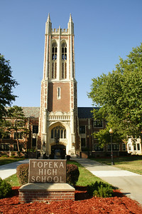 Main tower, Topeka Kansas high school. One of the first schools built in Kansas that cost over 1 million dollars.It was finished in 1931. For more information see the Topeka Capital Journal article from 2003:  http://cjonline.com/stories/081003/our_ths.shtml
