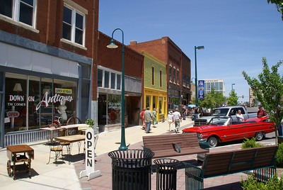 May: Antique district - downtown Hutchinson