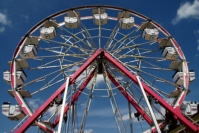 September: Ferris Wheel in children's section - Kansas State Fair in Hutchinson