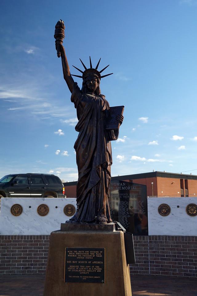 Statue of Liberty replica in downtown Kingman