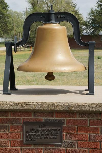 School bell memorial in Isabel Kansas