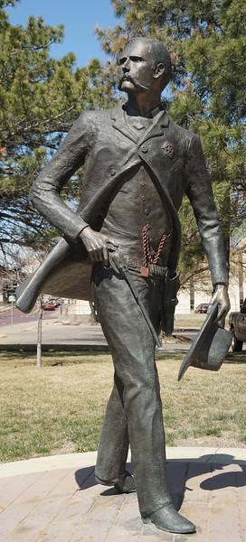 Statue of Wyatt Earp in downtown Dodge City