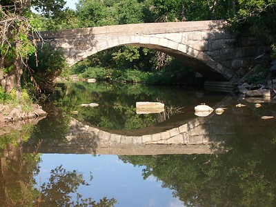 Crab Creek stone bridge near Dexter - Cowley County Kansas