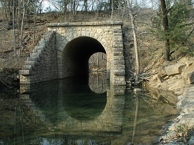 Stone arch bridge on abandoned railroad line - Chautauqua County, Kansas