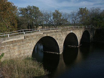 Triple Stone Arch bridge over North Branch Otter Creek - Greenwood County