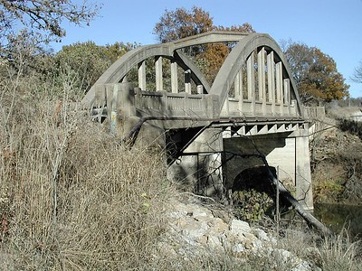 Cedar Creek arch bridge west of Elgin - Chautauqua County, Kansas